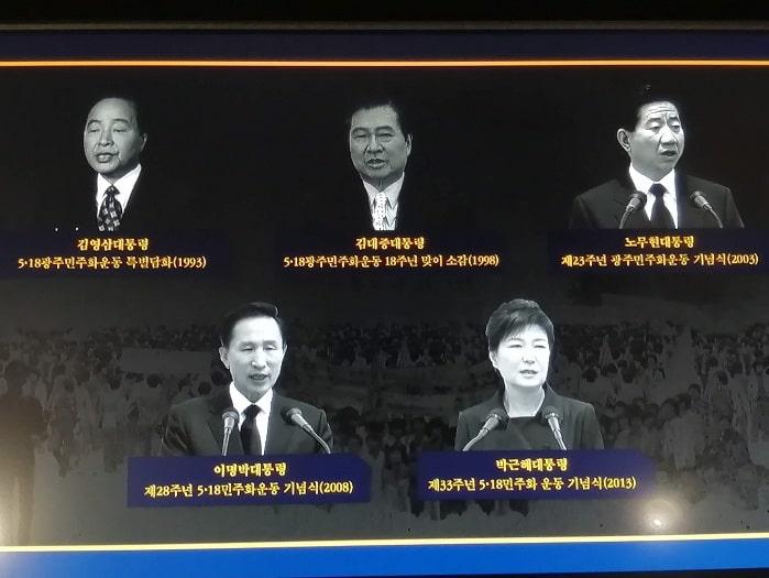 5・18民主化運動(光州事件) 記念式典の歴代大統領演説