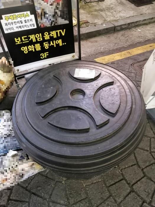 韓国のエア風船看板,空気がはいった看板