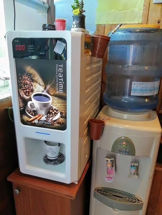 韓国ムグンジ有名店のコーヒーマシン