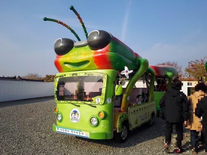 瞻星台(チョムソンデ)観光車:タマムシ電気自動車