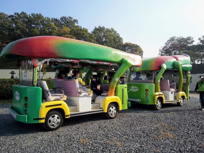 バッタに見える?瞻星台(チョムソンデ)観光車:タマムシ電気自動車