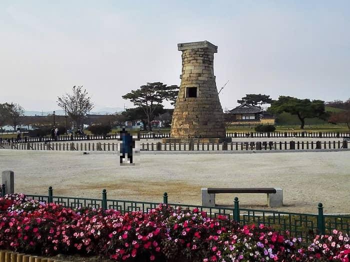 キョンジュのシンボル瞻星台(チョムソンデ)