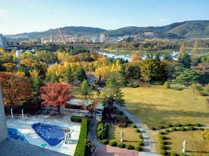 慶州普門リゾートが一望できるコモドホテル慶州