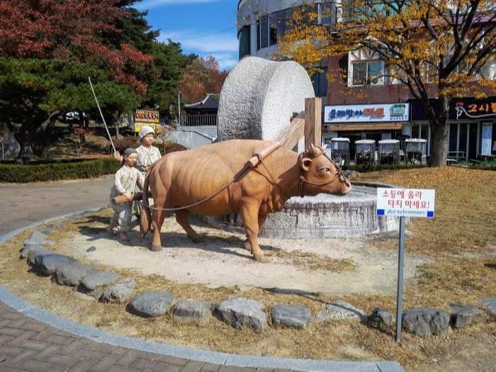 慶州普門リゾートの水車広場