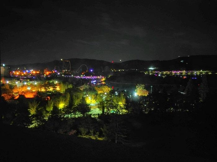 慶州普門リゾートの美しい夜景
