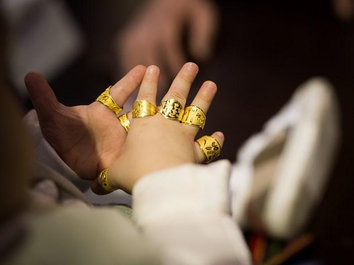 韓国一歳の誕生日トルパンジ純金指輪