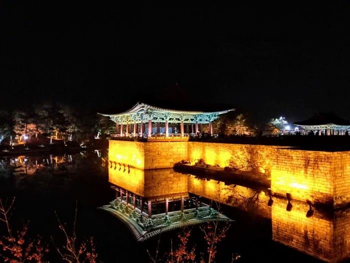 慶州の雁鴨池(アナッチ)月城(ウォルソン)