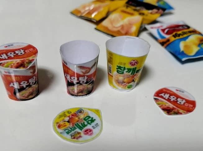 簡単!お菓子の食品ミニサンプル作り型紙