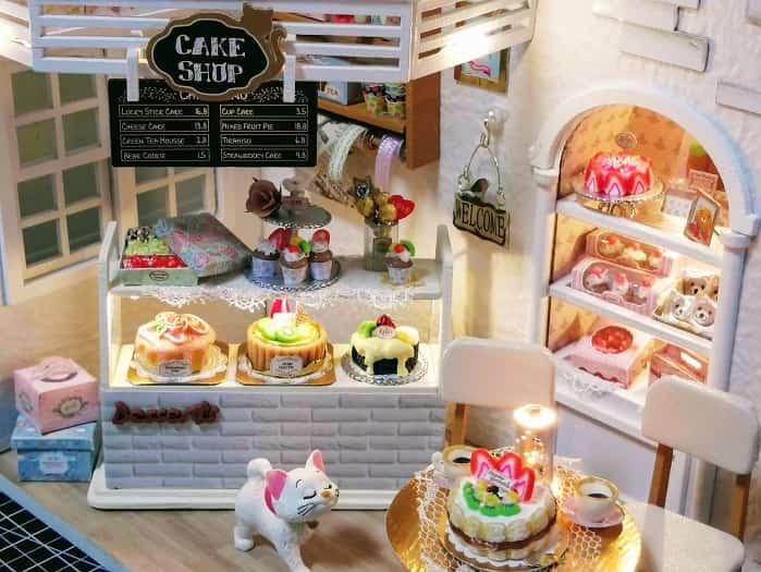 マリーちゃんのフィギュアつきケーキショップ