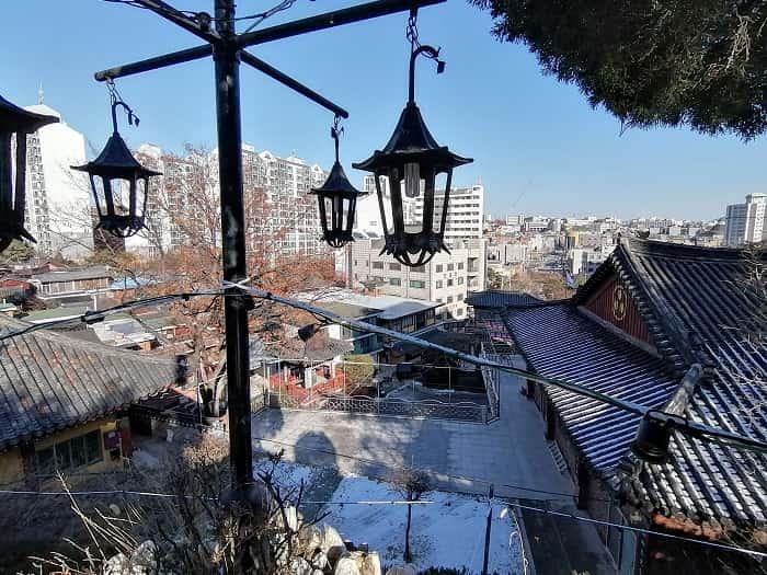 大韓仏教普門宗普門寺(ポムンサ)から見た景色