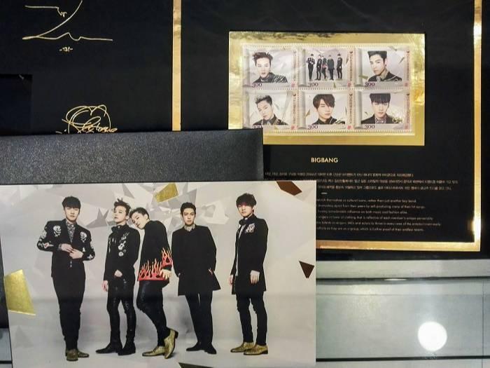 BIGBANG切手、韓国Kpop記念切手