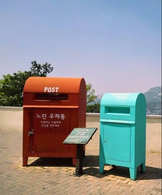 ソウル北岳スカイウェイ一年後に届くポスト
