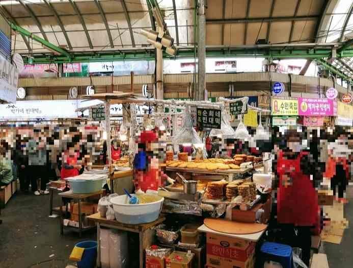 韓国ソウルの広蔵市場、屋台日本語メニュー
