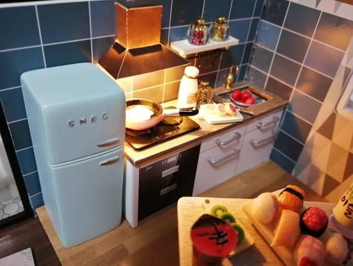 Yunko Blue Times ドールハウス ミニチュアキッチン
