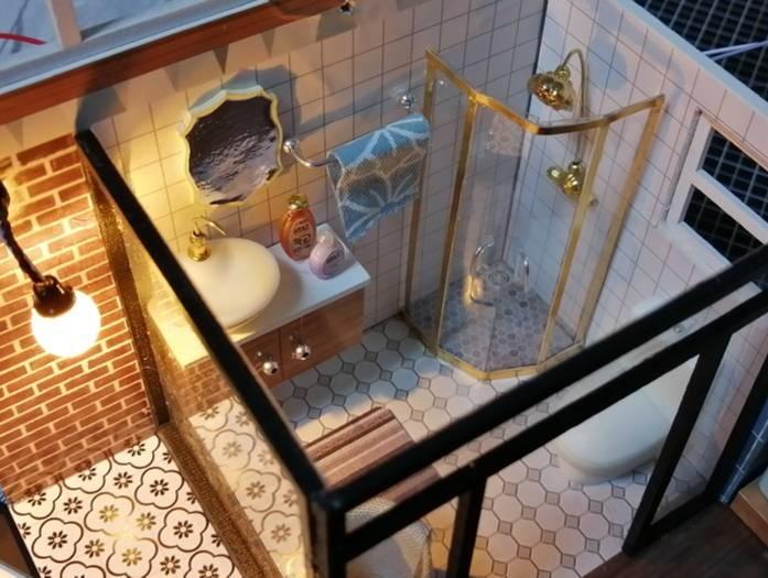 Yunko Blue Times ドールハウス ミニチュア浴室