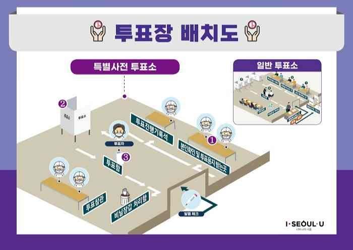 ソウル市長選挙 投票所
