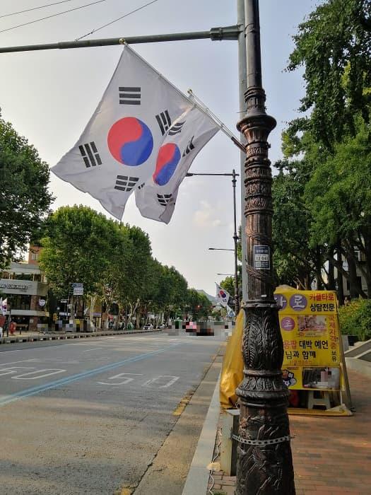 韓国の国旗テグッキ